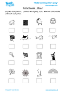 Phonics - Initial Sounds and Picture Cues, Mixed Letters from the Alphabet