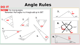 Starter for angle rules