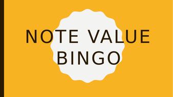 Music Note Value Bingo