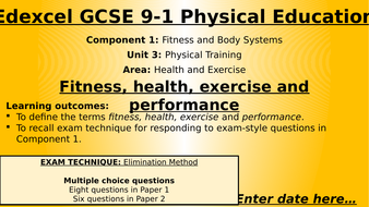 Edexcel 9-1 GCSE Physical Education - Component 1 - Topic 3