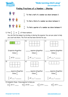 Finding Fractions of a Number - Using Pictures and Written Form