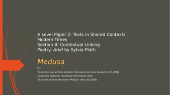 A Level English Literature - Medusa by Sylvia Plath