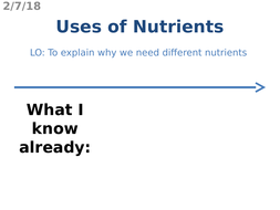 Uses of Nutrients
