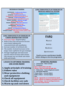 GCSE EDEXCEL 9-1 (NEW) Course revision cards and question of sport topic sheet