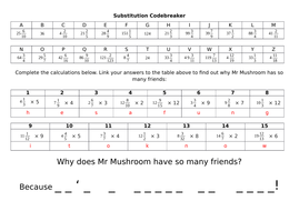 Codebreaker - Multiplying mixed numbers by whole numbers (Y5)
