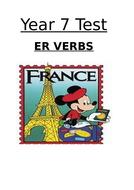 A little -er verb test - Year 7