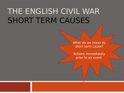 English Civil War - Short term causes