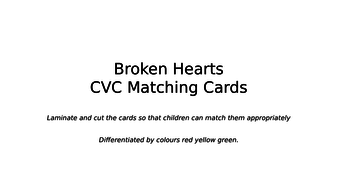 Valentine - Broken Hearts cvc matching game for F2