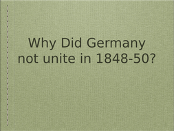 Unification of Germany: why did Germany not unite until1870