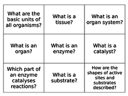 AQA 9-1 Biology (Trilogy) Organisation (Digestion and Enzymes) Flash Cards - Revision