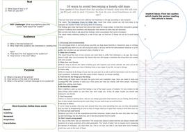 English Language Paper 2 TAP Learning Mat