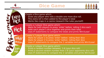 Createing a simple Dice Game in Python