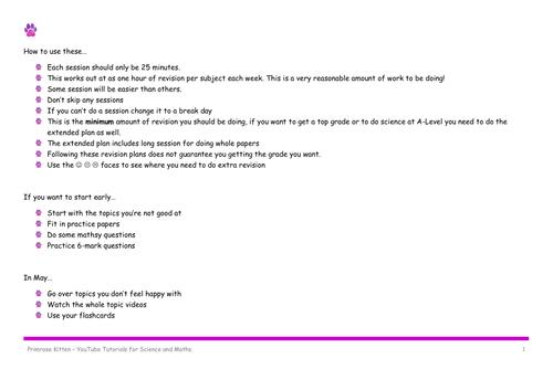 AQA 9-1 GCSE Science Revision Plan
