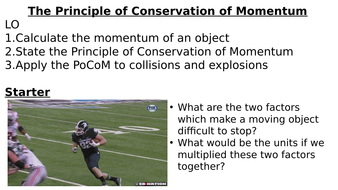 The Principle of Conservation of Momentum