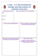 Edexcel 9-1 Forms of Expression and Ways of Life Revision Worksheets