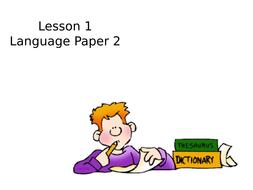 AQA Language Paper 2 Q1, Q2 and Q3
