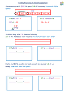 Finding Fractions of Amounts Differentiated Structured Questions