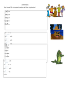 20 arithmetic tests for Year 1