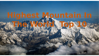PP showing the 10 highest mountains in the world