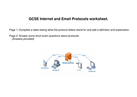 ICT GCSE Email and Internet Protocols worksheet | Teaching ...