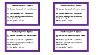 Punctuating Speech Prompt Cards