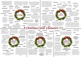 A Christmas Carol Characters.A Christmas Carol Theme And Character Learning Mats