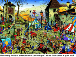 Medieval fun and entertainment lesson
