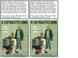 sources-for-suffragettes-Student-copies.ppt