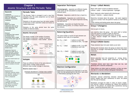 Aqa chapter 1 atomic structure and the periodic table revision mat aqa chapter 1 atomic structure and the periodic table revision matpdf urtaz Images