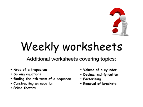 Mathematics GCSE weekly revision 2