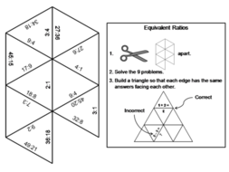 Equivalent Ratios Game: Math Tarsia Puzzle by ScienceSpot