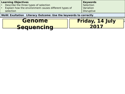 AQA A-Level Biology Genome Sequencing- Lecture Notes