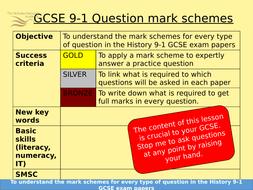 Edexcel GCSE History MARK SCHEMES