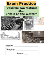 Edexcel 9-1GCSE Britain on the Western Front Exam Question Booklet