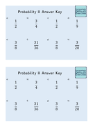 Increasingly Difficult Questions - Probability 2