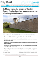 Stasiland - Cold and Stark - Ezine article on Hohenschonhausen Prison