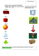 Match everyday items to 3D shapes