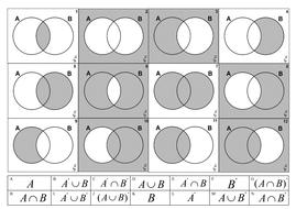 Venn Diagram - Matching exercise.