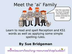 The long vowel ai Family by suebee1 - Teaching Resources - Tes