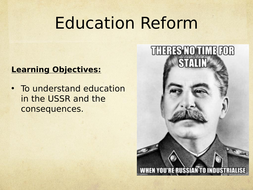Stalin's Education Reform