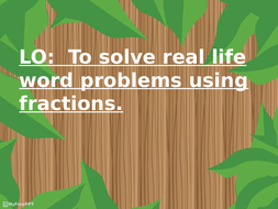 real-life-word-prbs-with-fractions.pptx