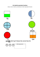 Identify equivalent fractions