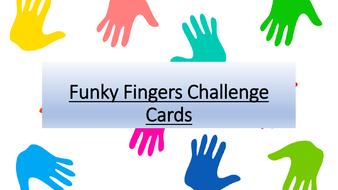 Funky Fingers Challenge Cards. EYFS. KS1. Fine motor skills. Pre writing skills.
