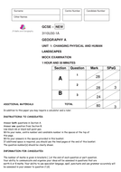 WJEC 2016 SPECIFICATION MOCK EXAM PAPER for PAPER 1 (FULL PAPER THEME 1-3 and MARKSCHEME)