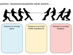 'To what extent' writing templates to improve exam technique ('assess', and 'evaluate')