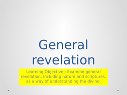 AQA A RE THEME C - General revelation
