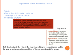 AQA A RE - The importance of worldwide church