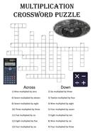 Maths crossword: Word Multiplication