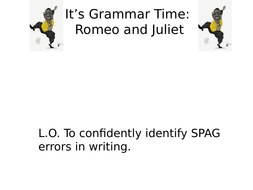 Romeo and Juliet SPAG Tasks