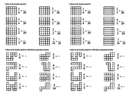Shading Fractions Of Shapes Pdf By Bench  Teaching Resources  Tes Shading Fractions Of Shapes Pdf